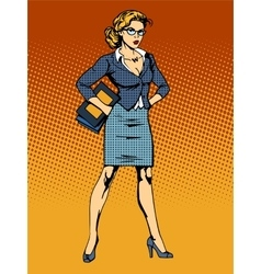 Businesswoman superhero woman vamp vector