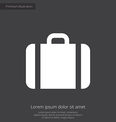 Case premium icon white on dark background vector