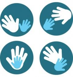 children and parent hands vector image
