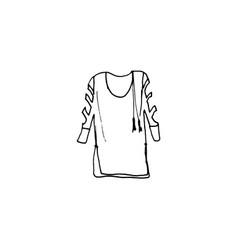 clothes line drawing of blouse vector image