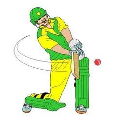 Cricket batsman vector