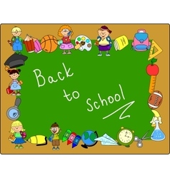 Cute back to school frame vector