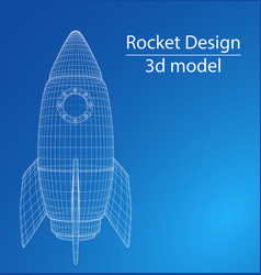 Design of a space rocket the concept of a startup vector