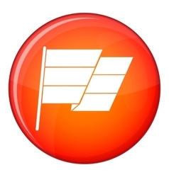Flag icon flat style vector