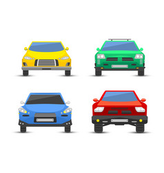 Flat car vehicle type design front view style vector