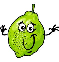 Funny lime fruit cartoon vector