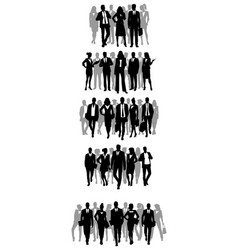 groups of businessmen silhouettes vector image