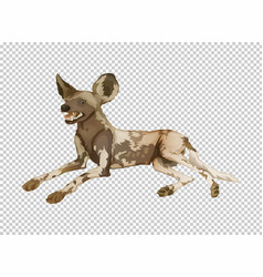 Hyena on transparent background vector
