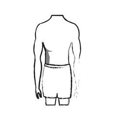 Male torso fit body icon image vector