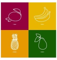 Mangobananapineappleavocado vector