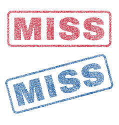 Miss textile stamps vector