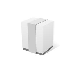 Paper gift box realistic mockup vector
