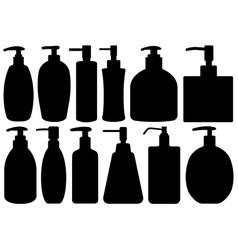 Set of different liquid soaps vector