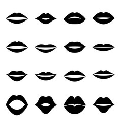set of lips vector image vector image