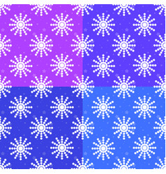 set of seamless patterns of white snowflakes on vector image vector image