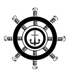 steering wheel ship vector image vector image