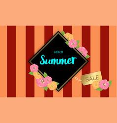 summer flowers frame or summer floral design on vector image vector image