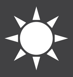 Sun solid icon weather and sunshine vector
