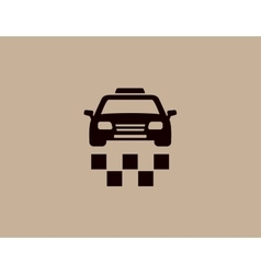 taxi car background icon vector image