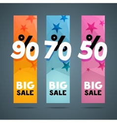 Vertical banner design template with discount vector image