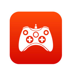 video game controller icon digital red vector image