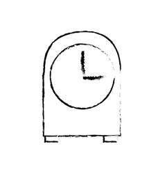 Vintage clock time decoration image vector