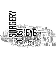 Why does the cost of lasik eye surgery change vector