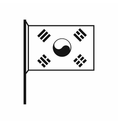 South Korea flag icon simple style vector image