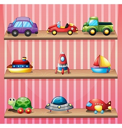 A collection of toys vector