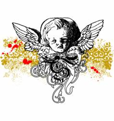 Wicked cherub illustration vector
