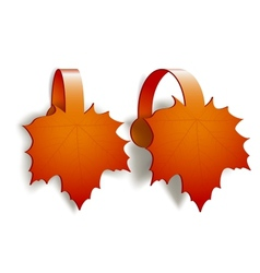 Maple Leaves advertising wobblers vector image