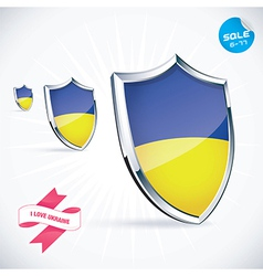 I love ukraine flag vector