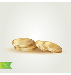 Golden coins isolated vector