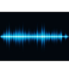 Blue sound waveform with hex grid light filter vector