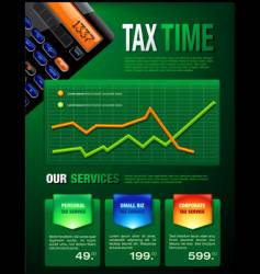 Tax services brochure vector