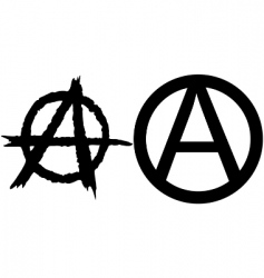 anarchy symbols vector image
