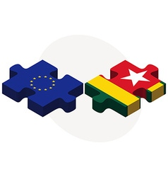 European Union and Togo Flags vector image