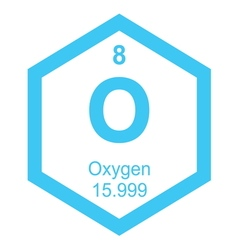 Periodic table oxygen vector image