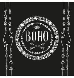 Hand drawn sign in boho style vector