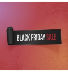 Black friday sale text on realistic ribbon vector