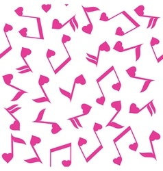 Music note heart pink vector