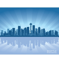 seattle washington skyline vector image
