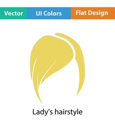 Ladys hairstyle icon vector