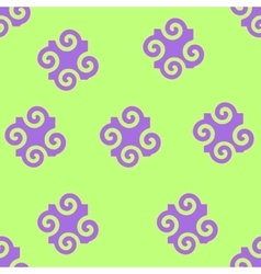 Spiral abstract seamless pattern vector
