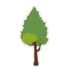 Green tree icon nature design graphic vector