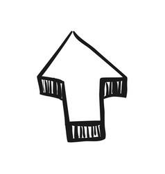 Arrow scribble isolated vector