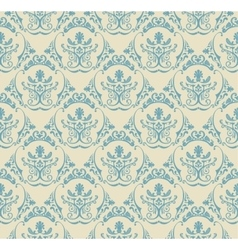 Background vintage Seamless wallpaper floral vector image