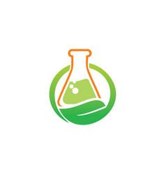 bio organic lab logo vector image