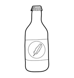 Bottle of cold water eco icon outline style vector