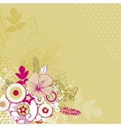 bouquet of hibiscus on beige background vector image